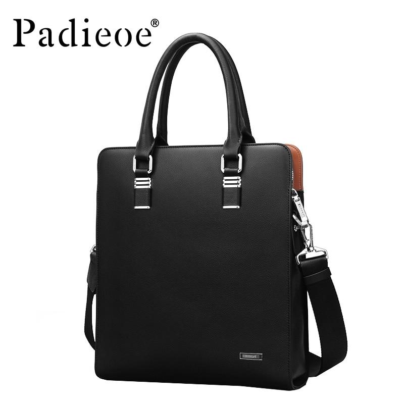 2017 High quality men's shoulder messenger bags fashion men handbags Genuine Cowhide Leather business briefcase for men