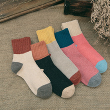 Women rabbit wool socks Japanese mid-tube warm thickening men's woman's socks Autumn winter wool sock master has given dobby a sock letters printing winter warm socks