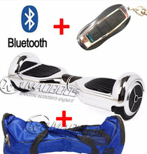 6.5 inch Two wheel Electric scooter+Bluetooth+Bag+Remote Hoverboard Electric Unicycle Skateboard Standing Drift Board