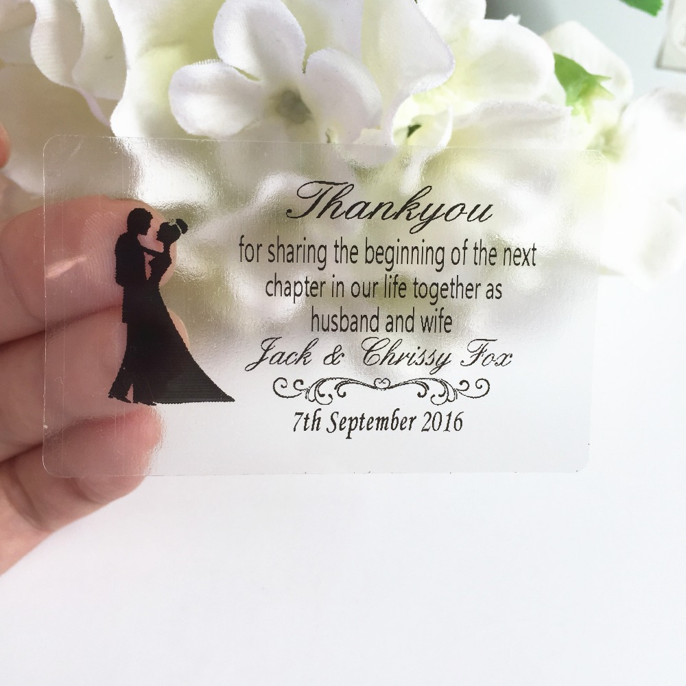 1.5 * 2.5 inches Wedding personalized customize stickers rectangle ...