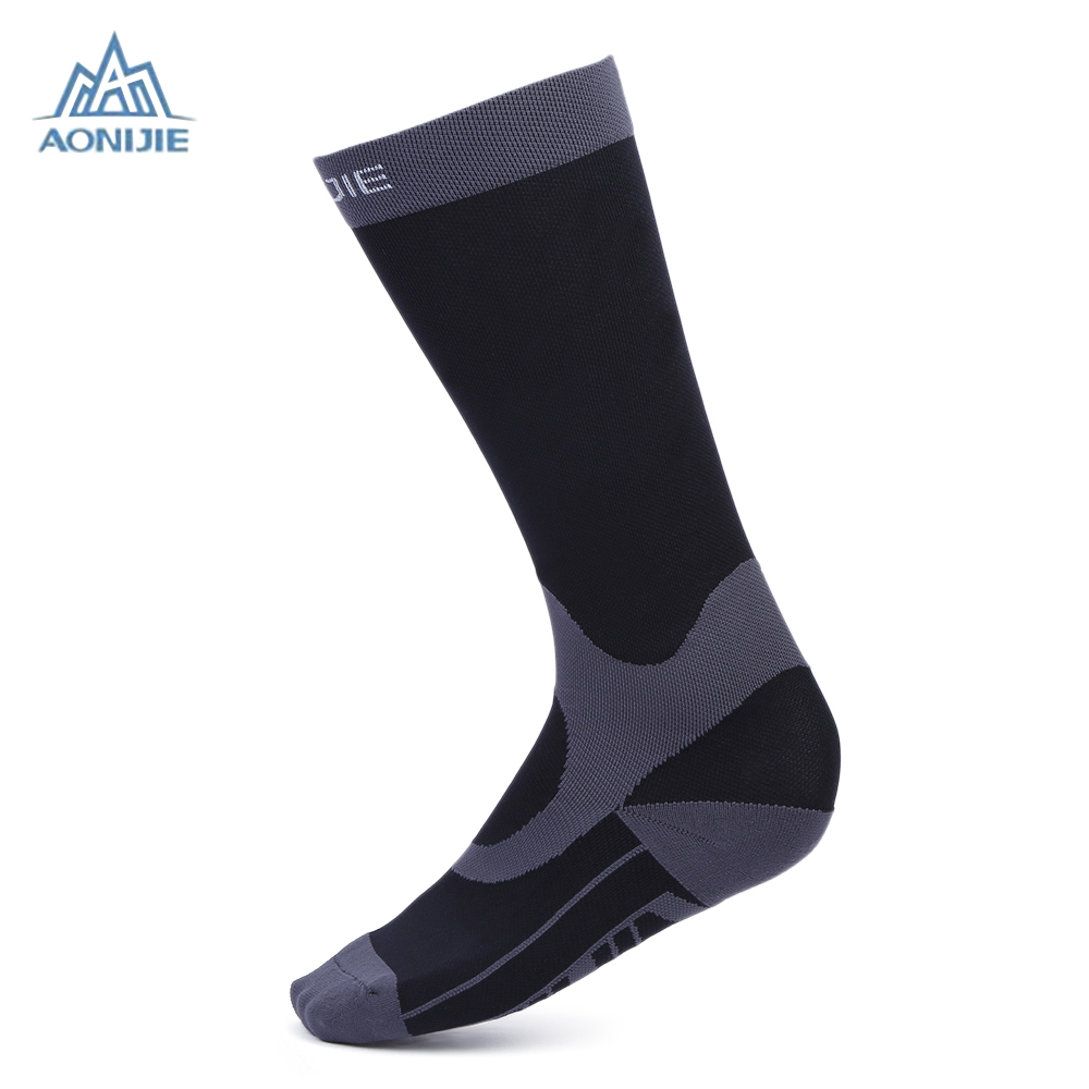 Aonijie Women Men Unisex Leg Support Stretch Outdoor Sport Socks Knee High Compression Socks Hiking Running Long Socks