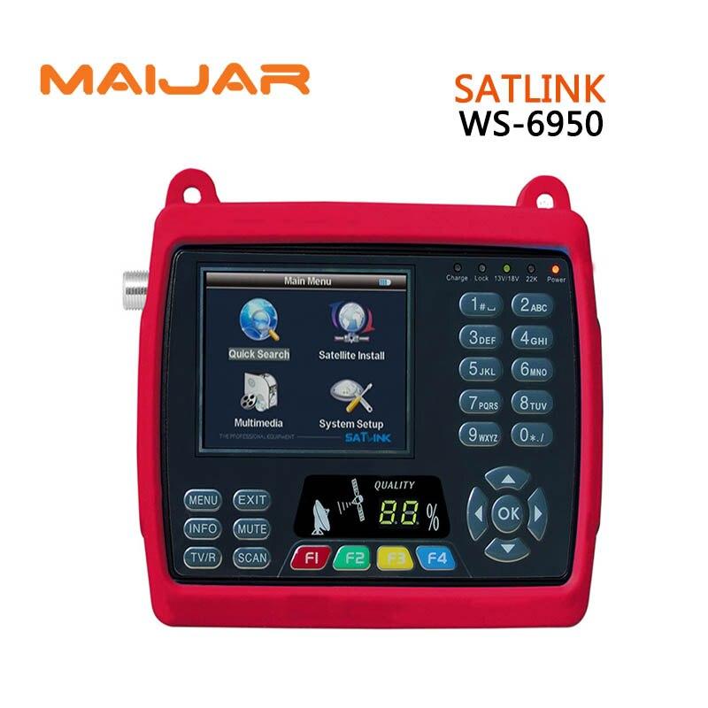 Оригинальный Satlink WS 6950 3.5 дюймов цифрового спутникового сигнала Finder метр WS6950 WS 6950 Бесплатная доставка лучше Sathero модель