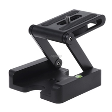 Z Гибкая наклонная головка штатива из алюминиевого сплава Складная Z наклонная головка пластина быстрого крепления спиртовой уровень для телефонов камер