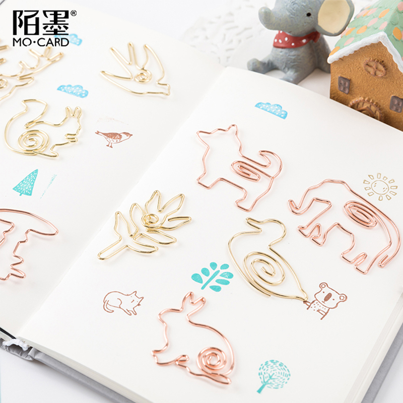 1 Pcs/lot Metal Forest Animal Bookmark Planner Paper Clip Material Escolar Bookmarks For Book Stationery School Supplies
