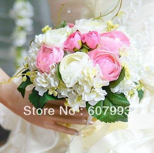 Brautstrauss Hortensie Und Tee Rose Hochzeit Blume Brautjungfer
