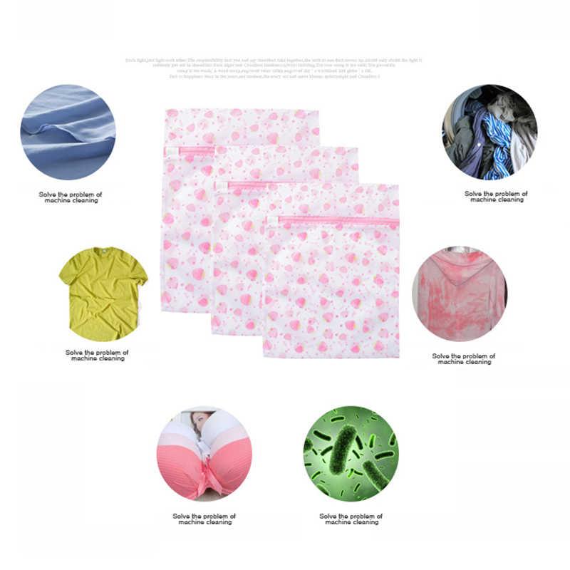 Nova 1 pcs Lavagem De Roupa Sacos de Malha Com Zíper de Proteção Dobrável Net Lingerie Meias Sutiã Roupa Interior para Roupas Sujas