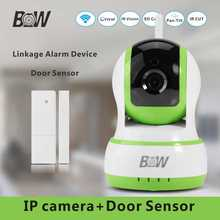 Residence Safety Digital camera Wifi 3mp IP Digital camera +Door Window Sensor Alarm Linkage Gadget Anti Theft Digital camera Wi-fi 720P HD BW13GR