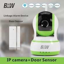 Casa de Cámaras de Seguridad Wifi Cámara IP 3mp + Dispositivo de Acoplamiento de la Alarma De La Puerta Ventana Del Sensor Antirrobo Cámara Inalámbrica 720 P HD BW13GR