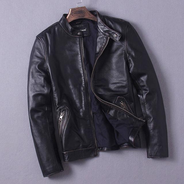 Envío Shipping.11.11 CCSME Top chaqueta de cuero genuino de la Marca de ventas. más el tamaño de ropa deportiva chaquetas, hombres chaqueta de calidad delgada de la vendimia