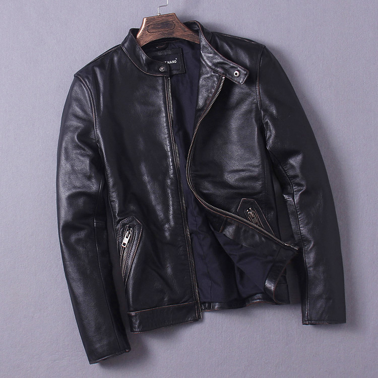 Free Shipping 11 11 sales EMS Top Brand genuine leather font b jacket b font plus