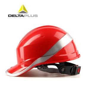 Image 2 - Casco de seguridad ABS para trabajo, gorra protectora ajustable con rayas de fósforo, protección aislante para sitio de construcción