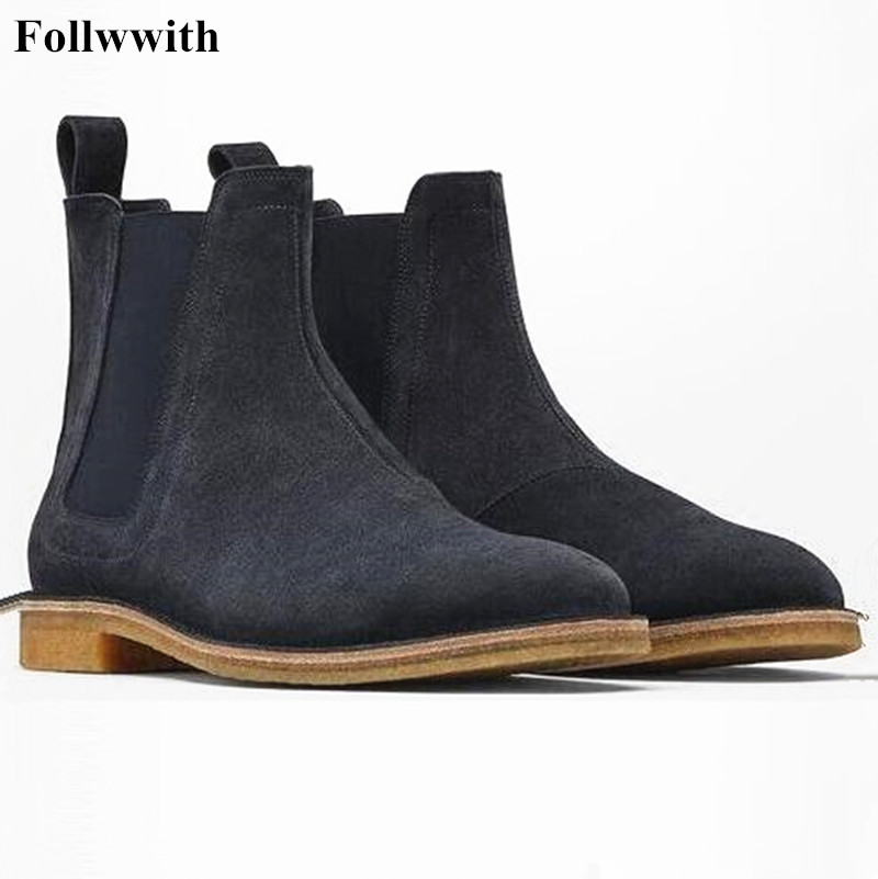 2018 New Arrival Genuine Leather Men Fashion Elastic band Ankle Boots Top Quality Spring Autumn Winter Gentle Flats Men Shoes 2017 men shoes fashion genuine leather oxfords shoes men s flats lace up men dress shoes spring autumn hombre wedding sapatos