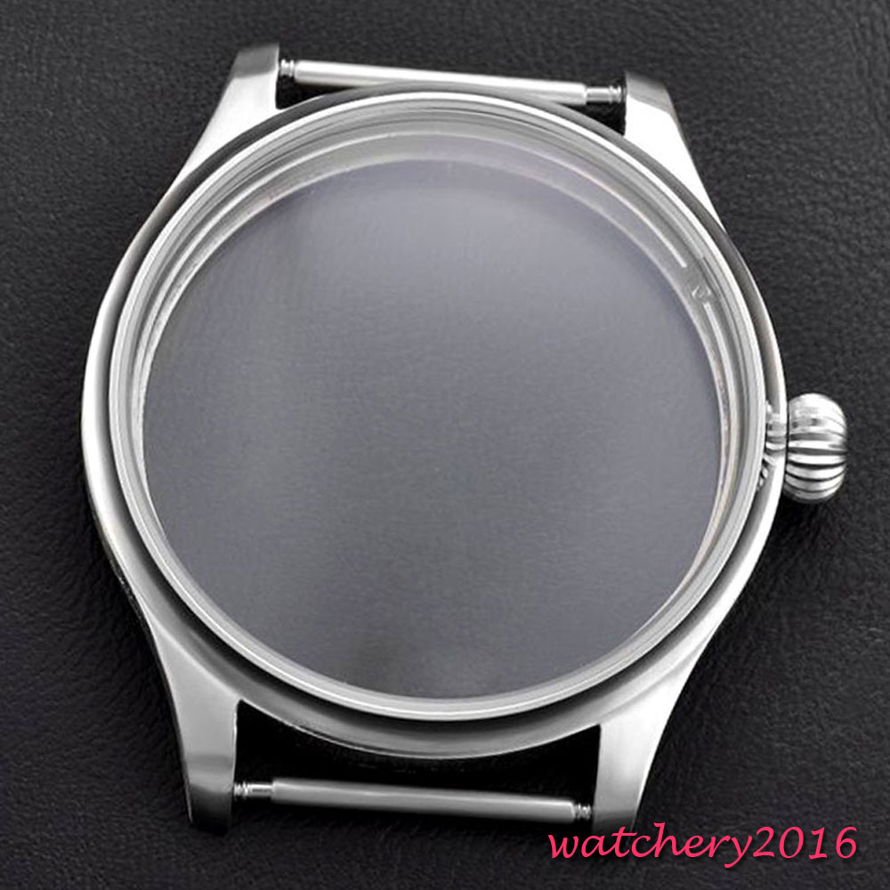 2017 top brand Luxury NEWEST 44mm 316L stainless steel hardened High quality CASE fit 6498 6497 eat movement Watch Case 44mm 316l steel parnis watch case fit 6498 6497 eat movement c35