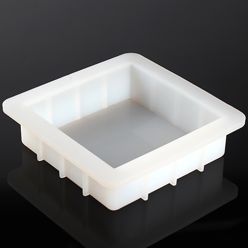 Square Silicone Soap Mold Easy Removal White Handmade Loaf Mould