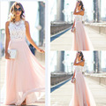 Bkld verão das mulheres sem mangas vestidos de praia 2016 nova moda elegante evening party dress sexy white lace dress for ladies vestido