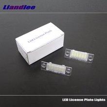 Liandlee For Volkswagen VW Transporter T5 / Caravelle / Multivan / LED Car License Plate Lights High Quality Number Frame Light