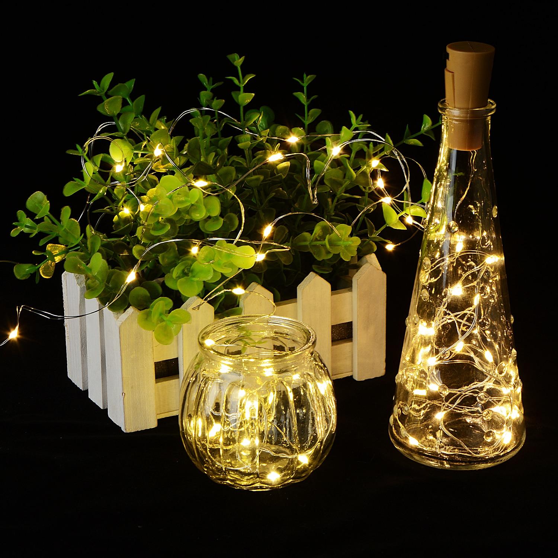 2m 20led Cork Shaped Bottle Stopper Light Glass Wine