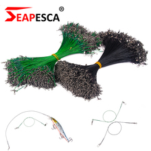 SEAPESCA 30Pcs/lot Skilled High quality Fishing Line Metal Wire Chief with Swivel Connector Equipment 15cm 25cm 30cm YA102