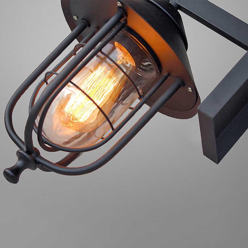 Vintage retro wall lamps iron black wall sconces rainproof indoor outdoor wall lights porch bar garden living room aisle lamps