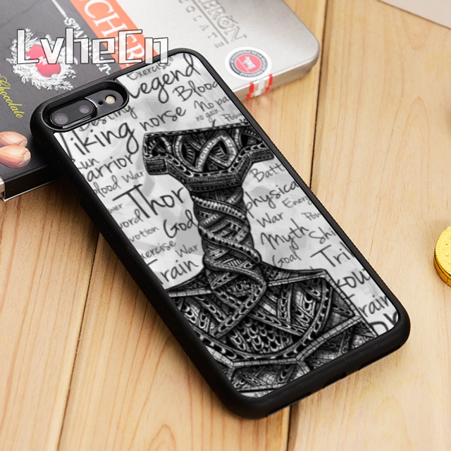 US $2 95 26% OFF|LvheCn Viking warrior norse thor odin graphic Phone Case  Cover For iPhone 5s SE 6 6s 7 8 X Samsung Galaxy S6 S7 edge S8 S9 plus-in