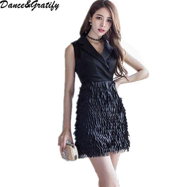 Vestido negro corto entallado