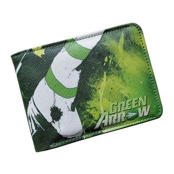 Comics DC Marvel Wallets Green Arrow Leather Purse Women Money Bags Gift Wallet carteira feminina bolsos mujer de marca famosa leather