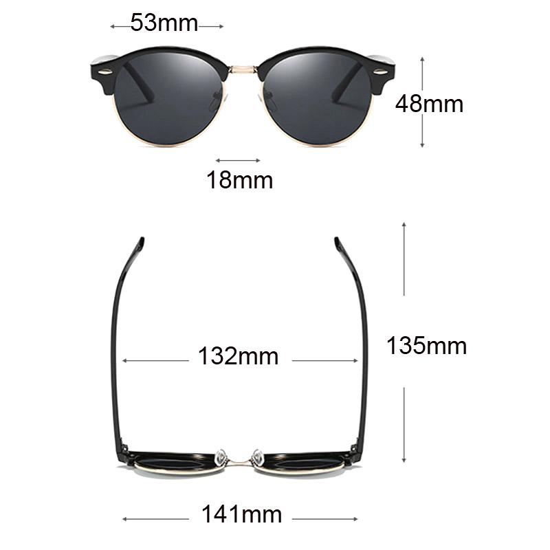Cool Round Polarized Sunglasses Women 2018 Fashion Driving Eyewear