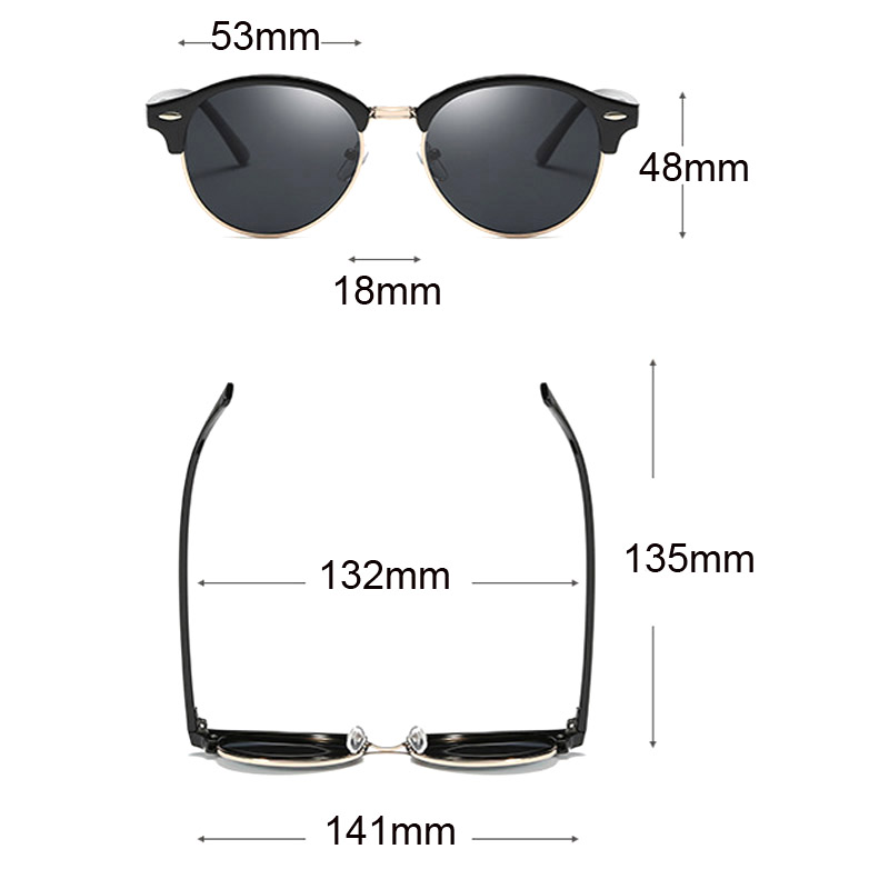 Cool Round Polarized Sunglasses Women 2018 Fashion Driving Eyewear