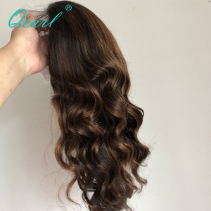 Image 3 - Full lace Wigs 1B/33#/30# Highlight Ombre Color Real Human Hair Wigs 180%/200% Thick Density Remy Brazilian Wavy Hair Wigs Qearl