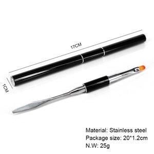 Image 5 - GDCOCO Poly Builder Gel Nail Gel Extension Nail Slice Brush DIY Polish Practice Board Tip Sticks Nail Art 100pcs Nail Tips