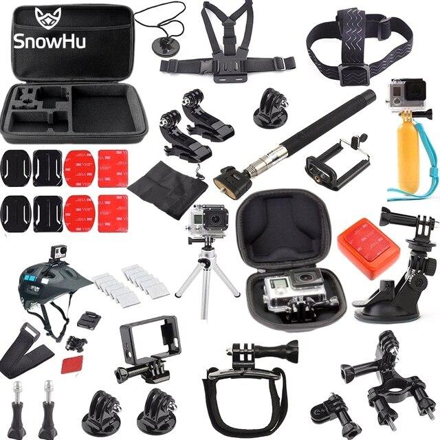 GoPro аксессуары 36 в 1 Семейный Комплект GoPro аксессуары GoPro аксессуары пакет для GoPro HD Hero 5 5S 4 3 + XIAOMI YI GS29