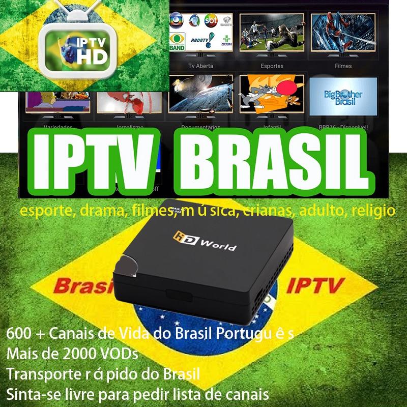 Iptv Brzsil Android TV Box iptv Brazil Latin MAG Iptv Set Top Box 600+ Portuguese and Brazil Sports Kids Music Drama TV Box
