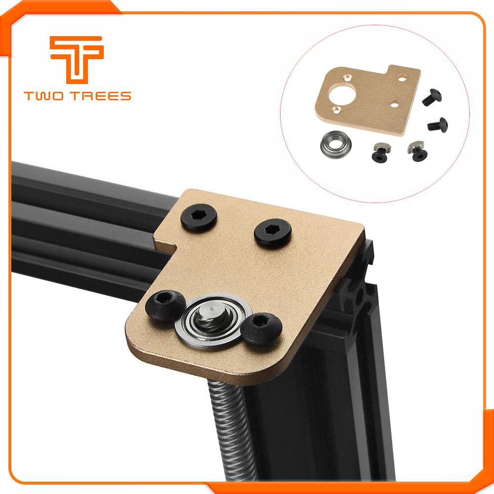 2PCS Z-Axis Stabilizer With Bearing Aluminum Alloy Z Axis Lead Screw Upgrade Holder For I3 Ender 3 Tornado Tarantula Pro