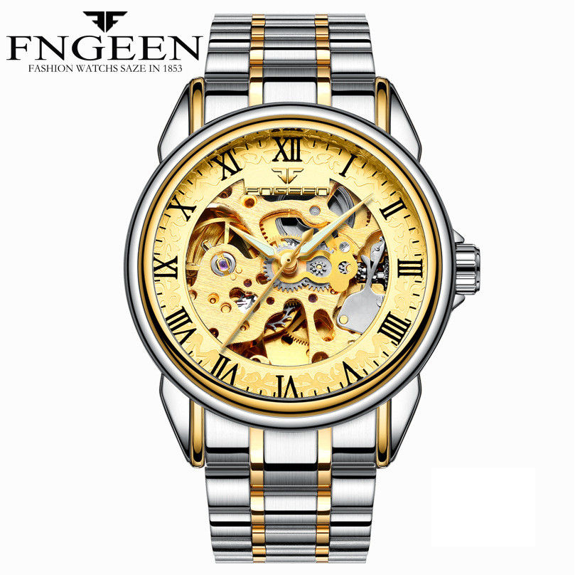HTB1QyBQkyqAXuNjy1Xdq6yYcVXaA - Men Watches Automatic Mechanical Watch Male Tourbillon Clock Gold Fashion Skeleton Watch Top Brand Wristwatch Relogio Masculino