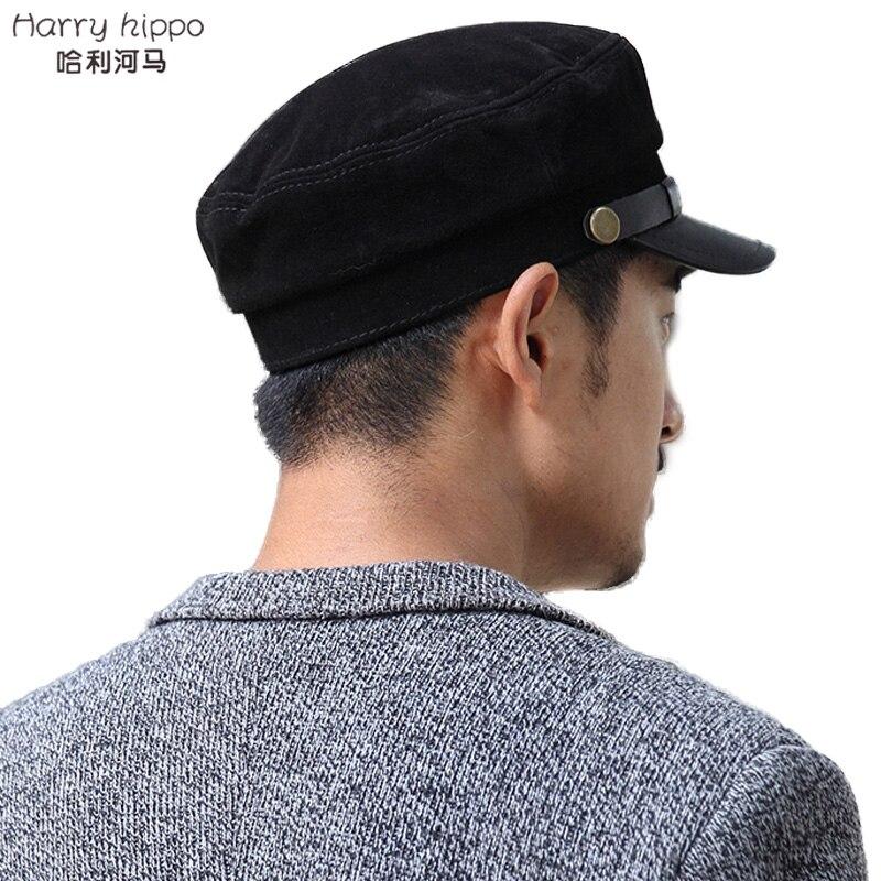 Harry hippo 2015 piel de oveja genuina gorras militares de cuero para las  niñas de moda hombre del sombrero gorra de invierno de la policía sombrero  para ... cf527fbc195