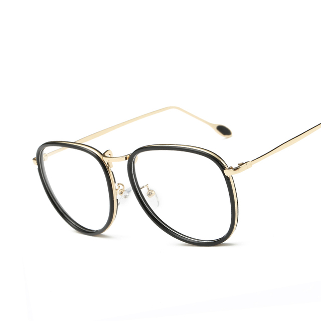Fashion Oversized Eyeglass Frames Men Women Retro Designer Eyewear ...