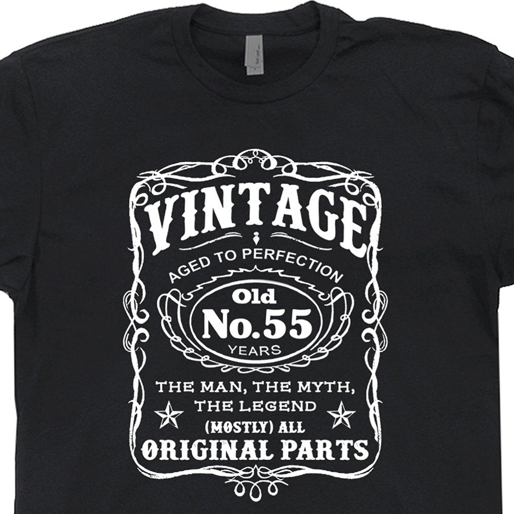 55th Birthday T Shirt 1962 Novelty Tee Shirts Gag Gift Vintage Present Dad Husband Old Fart Aged To Perfection Funny Hipster O N In From Mens