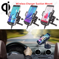 High Quality 360 Rotating QI Wireless Car Charger Vehicle Charging Stand Holder For Samsung Galaxy S6 Edge Note 5 iPhone 7