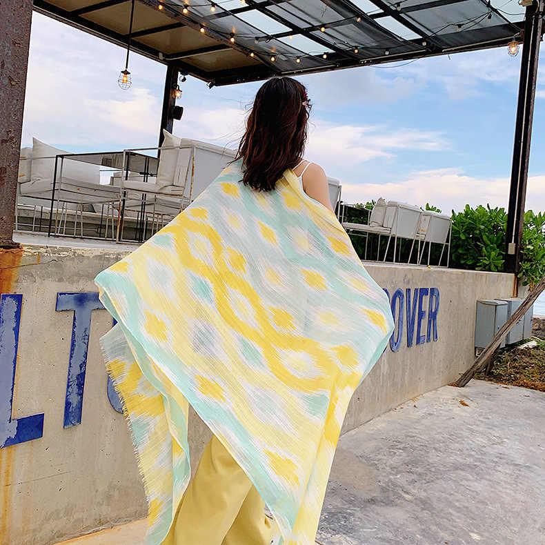 女性の高級ブランド咲く印刷ヒジャーブスカーフポンチョスカーフファム女性和風新鮮なネックスカーフ岬ショール