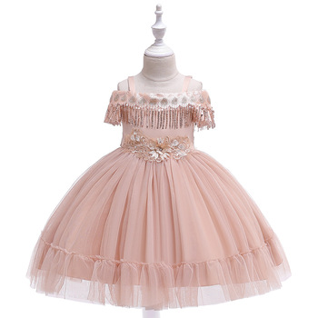 Ballgown Spaghetti Straps  Flower Girls Dresses for Evening Party Tulle Tutu Gowns  Birthday Party Dress 2019 black flower baby girls tutu dress sleeveless tulle halloween cosplay animal cat costume for girls kids birthday party dresses