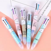 цены 1pcs/lot Cute Cartoon Clouds 6 Colors Press Ballpoint Pen Writing ballpoint pen School Office supplies