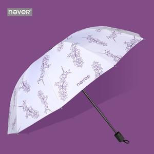 Image 1 - Never Mermaid Office Business Stationery Gift Set Teaches Gift Fashion Sunny and Rainy Umbrellas Women Ladies Sunscreen Umbrella