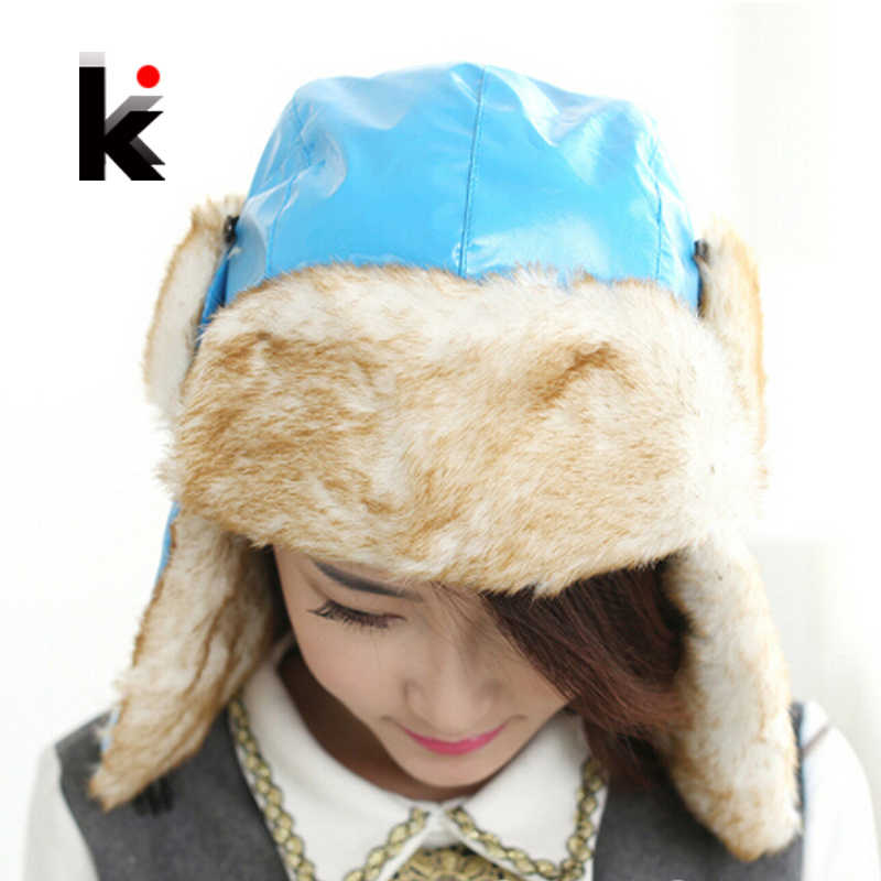 Free shipping Winter Cap with ear flaps kids hat toucas de inverno Hats for  Women   8cfed1e1842f