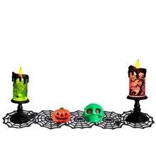1PCS Halloween Spider Net Tablecloth For Bar KTV Creative Black Decor Web Covers Party Decoration
