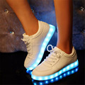 sapatos com LED casuais masculino feminino Preto cores brancas tenis LED para adultos Moda LED amantes Shoes sapatos neon masculino