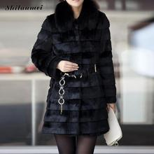 Feminina 2016 New Fashion Faux Fur Coat With Belt Winter Luxury Women Fox Fur Vest Plus Size Long Fake Fur Coat Jacket