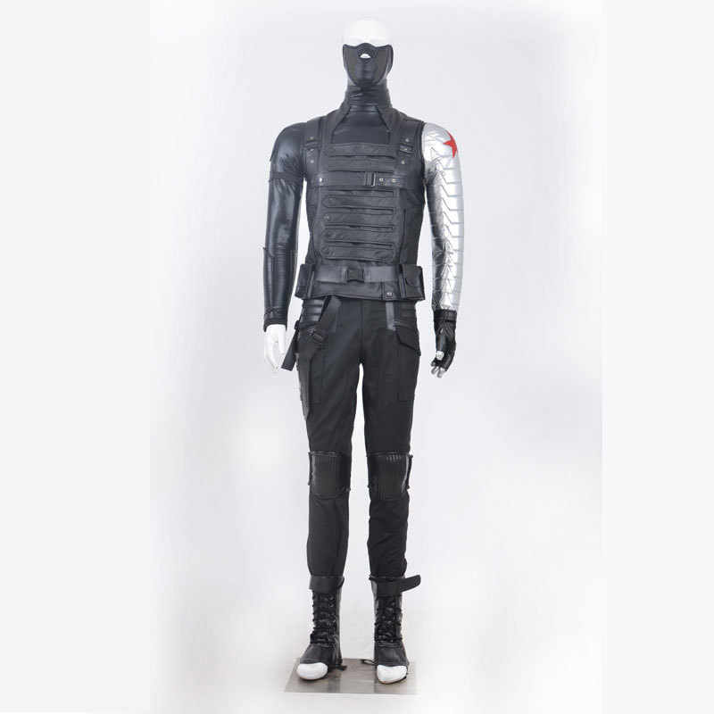 2016 hotest great adult halloween costumes Captain America 2 The Winter Soldier Bucky Barnes Cosplay Costumes