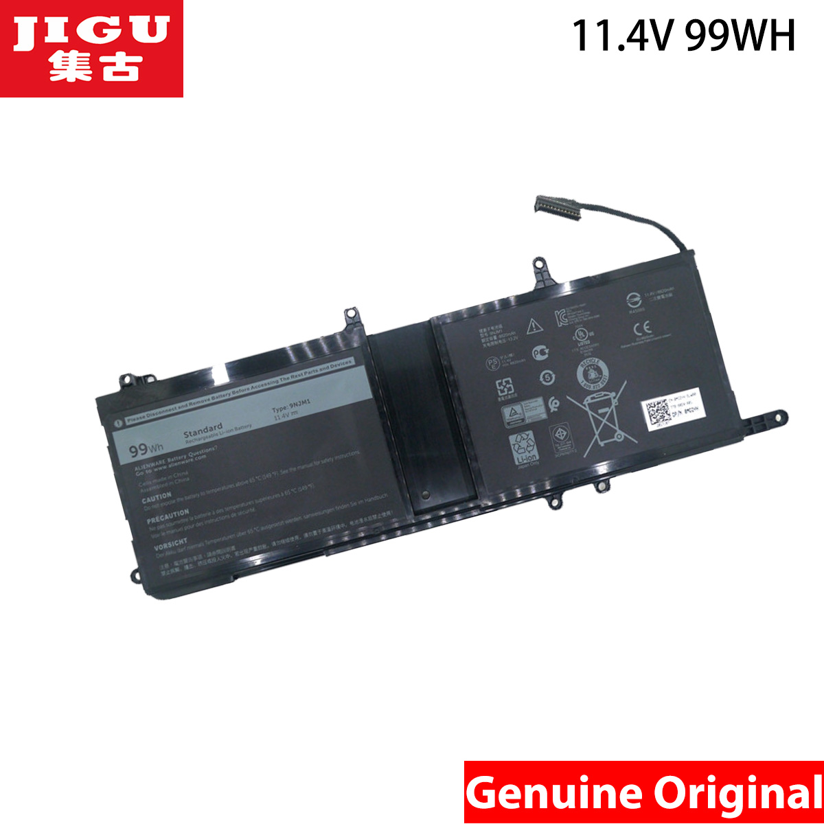 JIGU 11.4V 99WH Original 01D82 9NJM1 MG2YH Laptop Battery For Dell Alienware 17 R4 ALW17C-D1738 ALW17C-D1748 D1758 D1848 D2358 hot sale replacement laptop battery for dell alienware 15 r3 alienware 17 r4 0546ff 0hf250 44t2r 9njm1 hf250 mg2yh