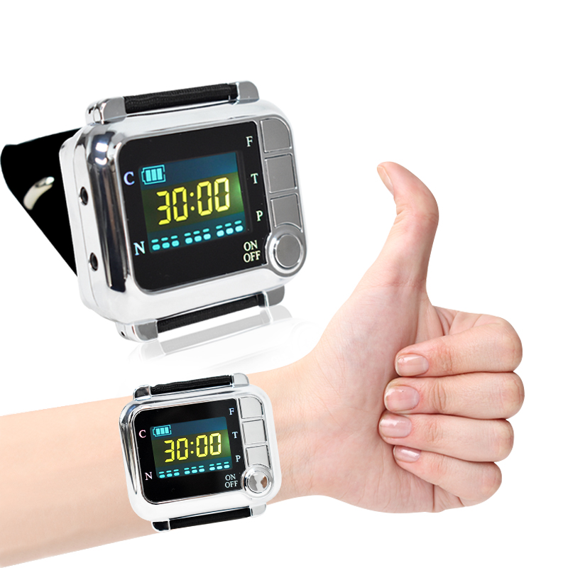 650nm Diode laser physiotherapy wrist therapy LLLT for diabetes hypertension high blood treatment diabetic sinusitis Laser watch acupuncture physiotherapy device diabetic blood circulation model cardiovascular disease laser therapy