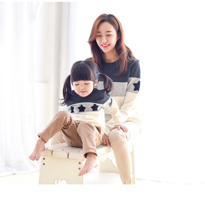 NEW family shirt clothes for mother and daughter Patchwork matching family look Father and Son outfits clothing Kids Hoodies